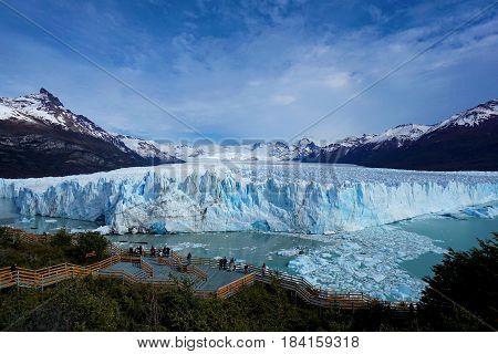 Perito Moreno Glacier in Argentina's Patagonia on a Sunny Day