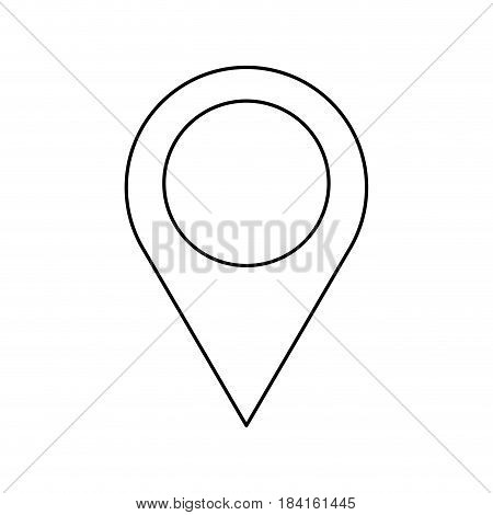 pin map location gps building image outline vector illustration