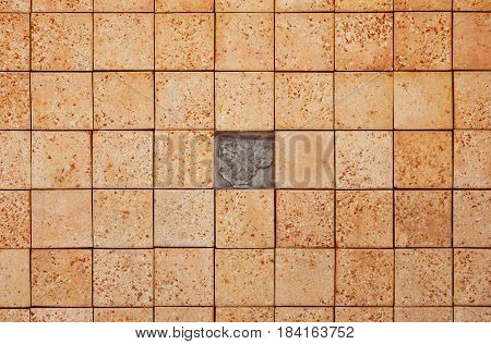 Square bricks texture with missing piece, texture backgrounds