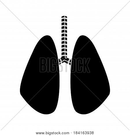 lung human anatomical health silhouette vector illustration