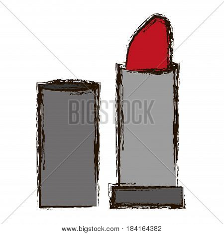 lipstick icon over white background. colorful design. vector illustration