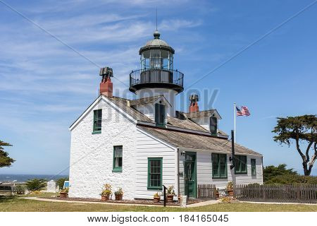 Point Pinos Lighthouse. Pacific Grove, Monterey County, California, USA