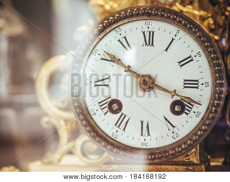 Victorian Old Clock Face with Roman Numerals Antique collection