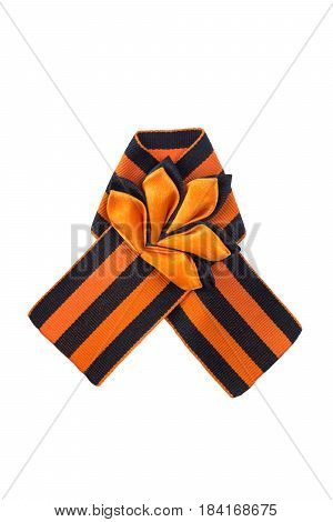 George ribbon beautifully tied in a knot isolate on white background