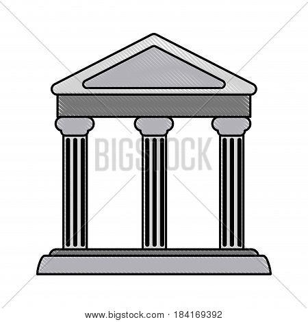 color blurred stripe parthenon architecture icon vector illustration