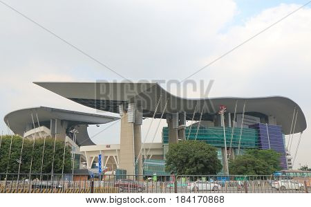 GUANGZHOU CHINA - NOVEMBER 14, 2016: Guangzhou Olympic Sports Centre. Guangzhou Olympic Sports Centre is a multi-purpose stadium currently used mostly for football matches opened in 2001.