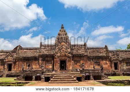 Phanom Rung historical park is Castle Rock old Architecture about a thousand years ago at Buriram ProvinceThailand( Generality in Thailand and kind of art decorated in Buddhist churchtemple paviliontemple hall.They are public)