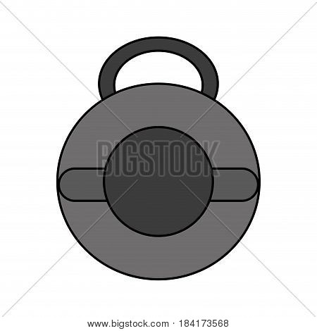 color image kettlebell weights for crossfit gym vector illustration