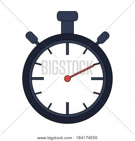 color image cartoon stopwatch graphic vector illustration