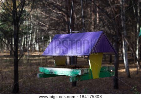 bird feeders. tree house for the birds cheerful apartment