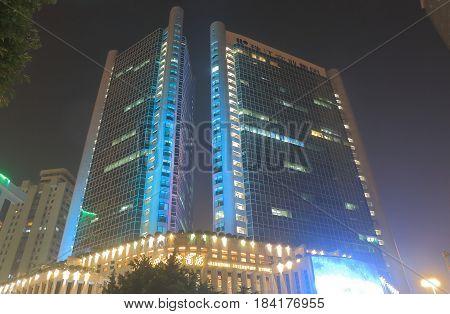 GUANGZHOU CHINA - NOVEMBER 14, 2016: World Trade Centre building.