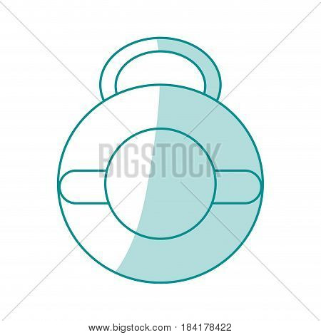 blue silhouette shading kettlebell weights for crossfit gym vector illustration