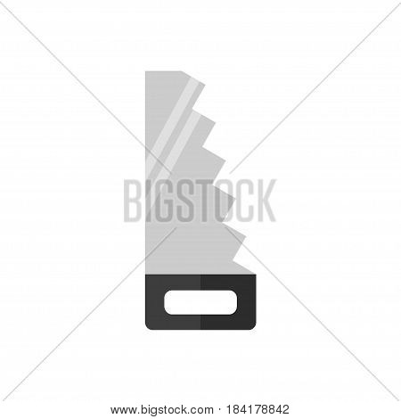 Saw icon isolated on white background. House construction tool. Metal saw. Flat vector illustration design.