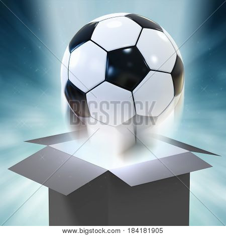 Soccer Ball Blowing Out