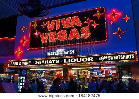 LAS VEGAS - OCT 09 : The Fremont Street Experience on OCT 09 , 2016 in Las Vegas, Nevada. The Fremont Street Experience is a pedestrian mall and attraction in downtown Las Vegas