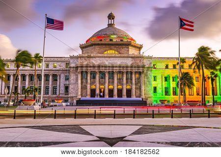 San Juan, Puerto Rico capitol building.
