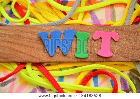 word wit on a  abstract colorful background