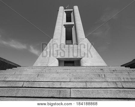 Monumento Ai Caduti War Memorial In Como In Black And White
