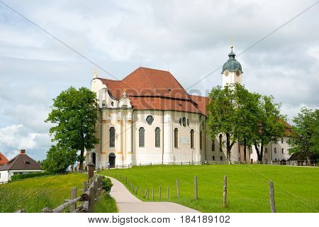 Pilgrimage Church of Wies, Bavaria, Germany. UNESCO World Heritage Site