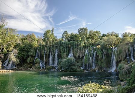 Waterfalls in Bosnia and Herzegovina, national park Cravice