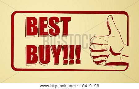 Vector illustration of best buy icon