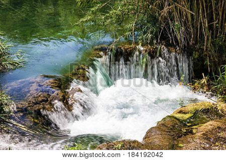 Waterfall in Croatia Krka National park lake