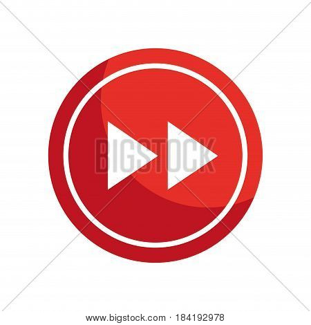 next arrow button icon over white background. vector illustration