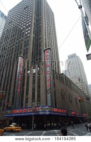 Radio City Music Hall Of New York, Usa