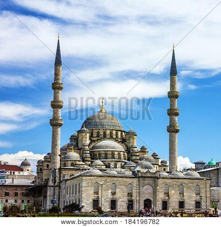 Mosque building architecture - Eminonu, Istanbul, Turkey.
