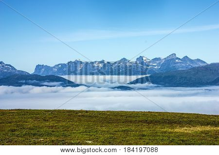Tromso - panoramic view on mountains, Norway