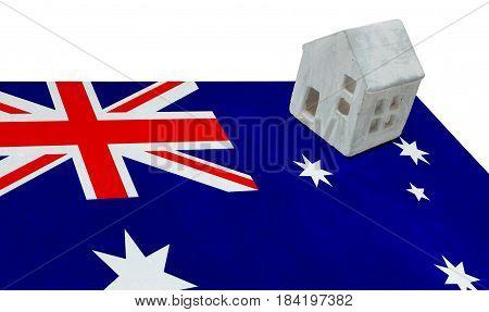 Small House On A Flag - Australia
