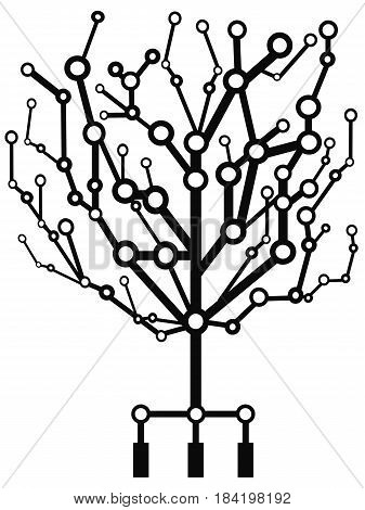 isolated the circuit tree from white background