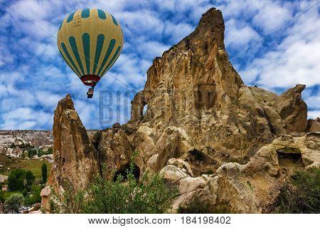 Hot air balloons show in Cappadocia, Turkey