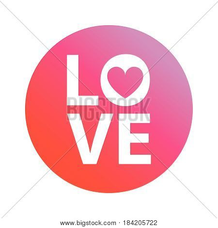 vector an illustration an inscription love on a pink background