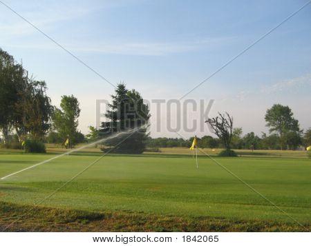 Empty Golf Green
