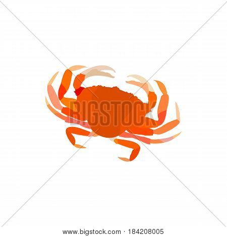 Crab. Steamed red crab. Serrated mud crab. Crab isolated on white background.