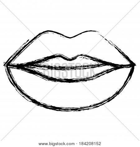 sensual lips icon over white background. vector illustration