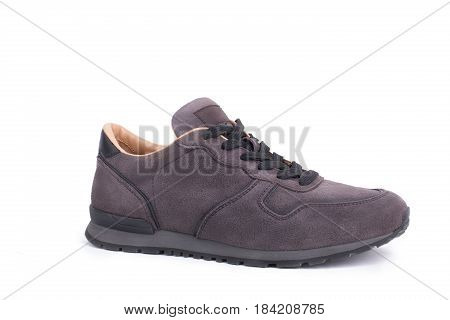 New Suede sneaker isolated on white background