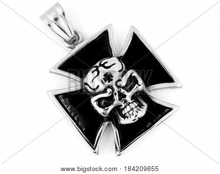 Necklace Pendant Maltese Cross - Stainless Steel