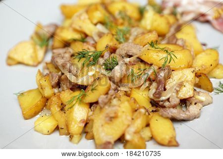 Fried Potatoes With Meat