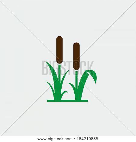 reed icon isolated on white background .