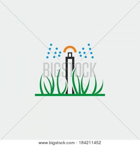 automatic sprinkler icon isolated on white background .