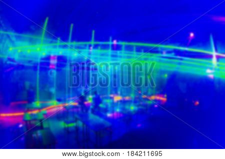 Club Party Is Blurred Background.
