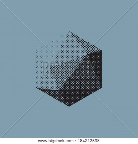 Color abstract shape with low-poly polygonal triangular.