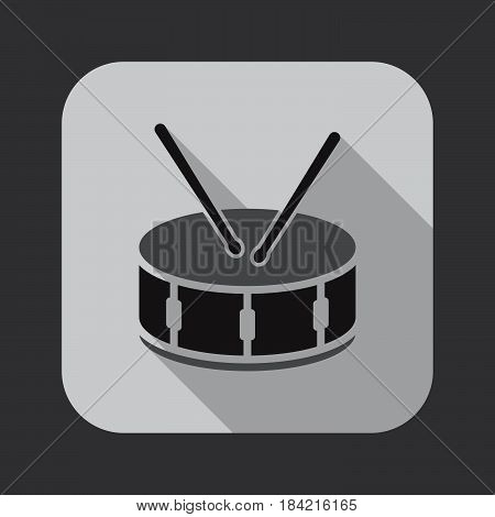 snare drum icon isolated on white background .