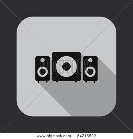stereo system icon isolated on white background .