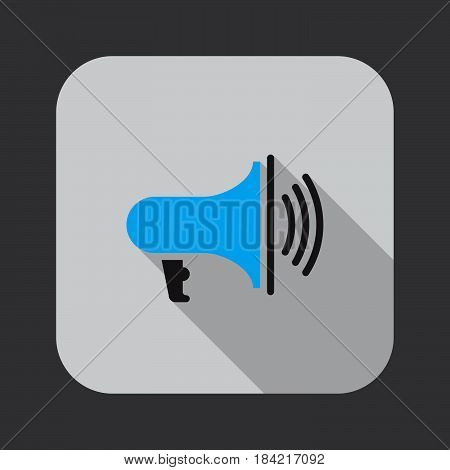 bullhorn icon isolated on white background .