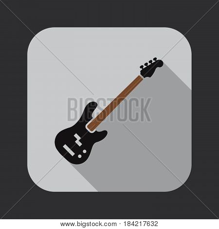 bass guitar Icon isolated on white background .