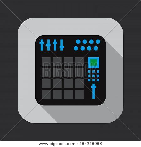 midi controller icon isolated on white background .