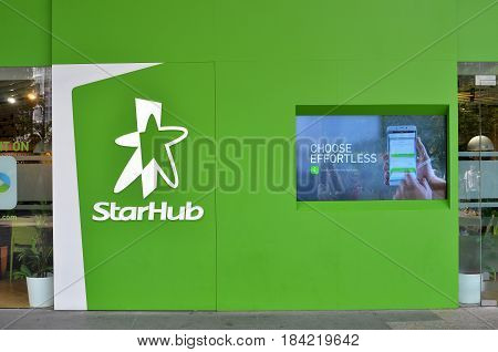 Sign Of Starhub Along The Orchard Road